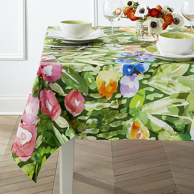 Bloom Tablecloth Crate And Barrel Table Cloth Crate And