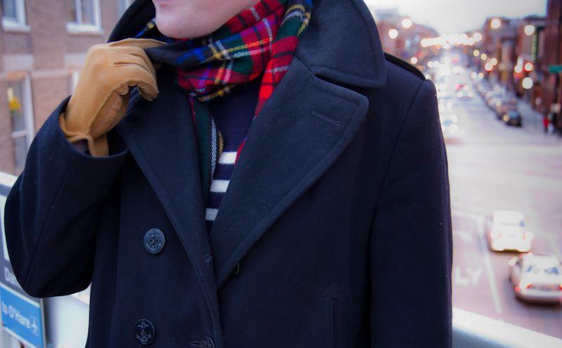 On Seth: Thrifted Black Pea Coat By Sterlingwear Of Boston