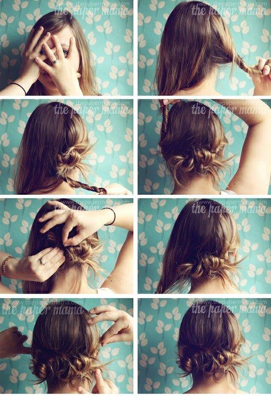 peinados elegantes fciles en peinados y cortes de cabello