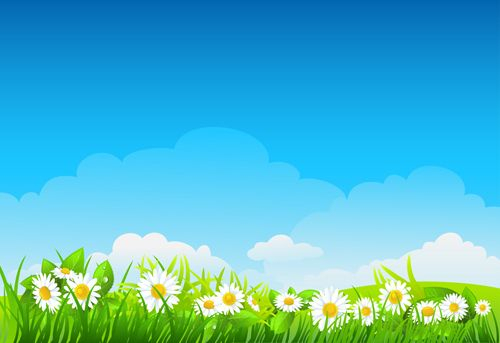 Blue Sky With Nature Vector Background Vector 02 Free Nature Vector Vector Background Free Vector Backgrounds
