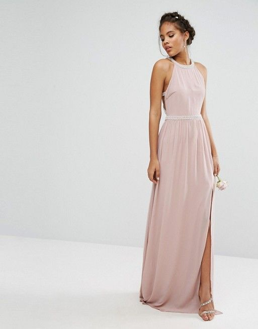 03369f8d9bb TFNC Tall Wedding Embellished Maxi Dress With Jewel Strappy Back ...