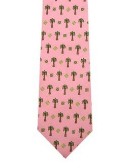 Click Image Above To Purchase: Men's Pink Trees Tie