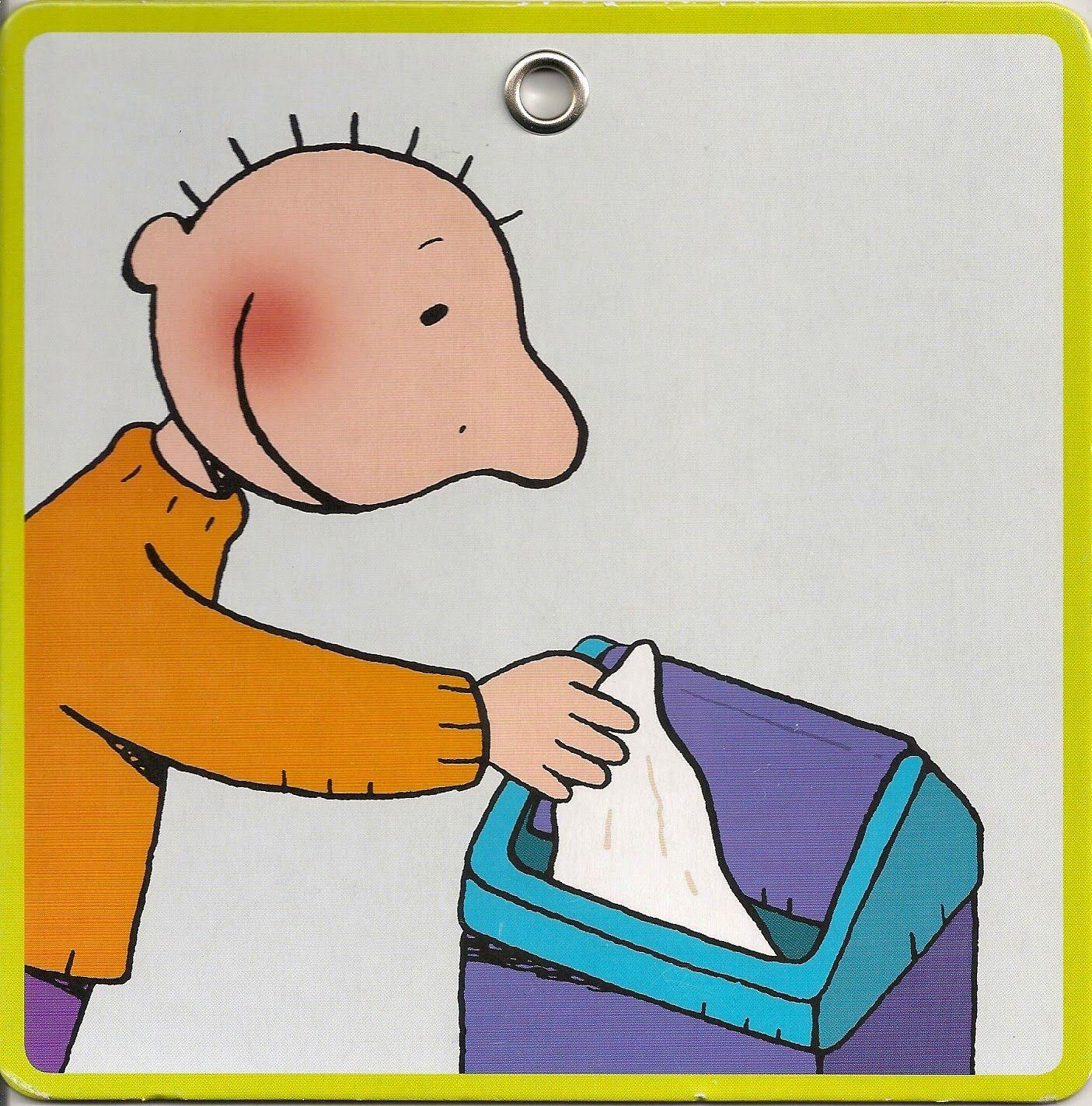 stappenplan neus snuiten handen wassen jas aantrekken