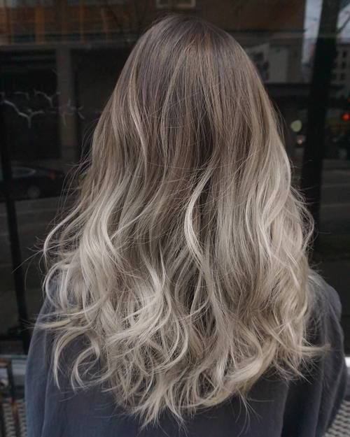 40 Glamorous Ash Blonde And Silver Ombre Hairstyles Ash