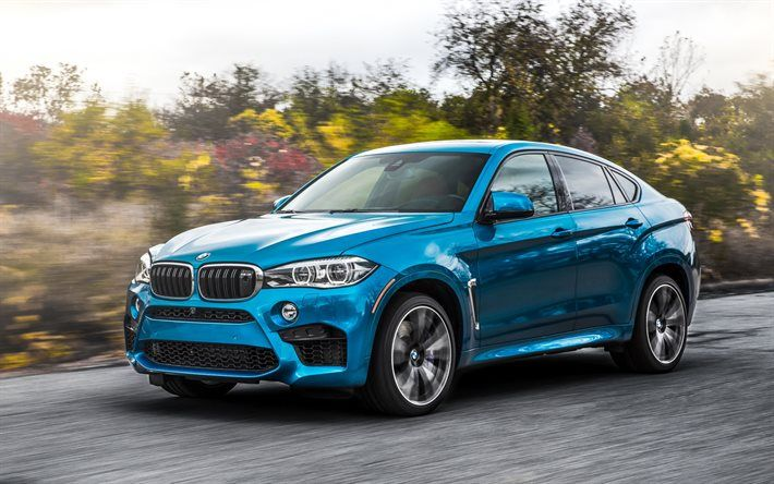 Download Wallpapers Bmw X6 M 2017 F86 Crossover Blue X6 German