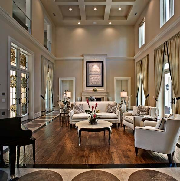 Living Room Large Windows Doors Symmetrical Lines Throughout Make For A More Formal Feel Gorgeous
