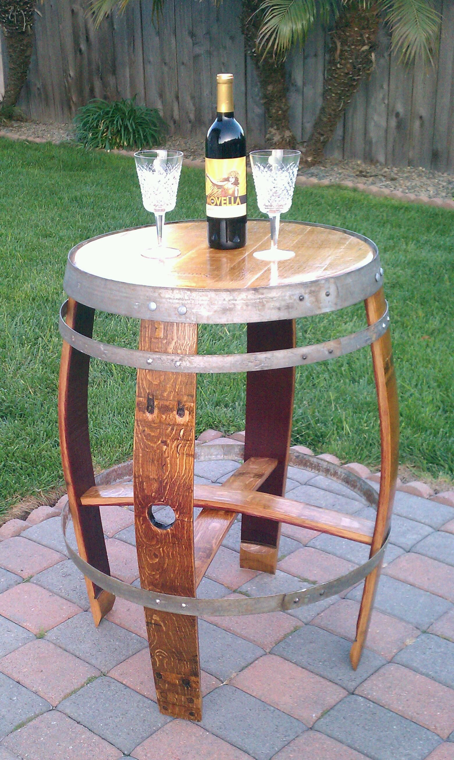 Table Made From A Upcycled Wine Barrel Weinfass Weinfass Tisch