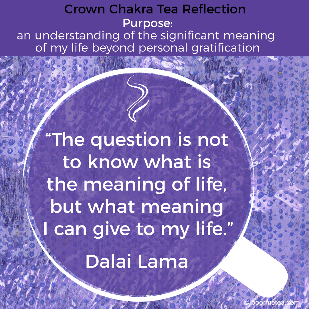 Crown Chakra Tea Meditation Quote: Inspiring Quote for Crown