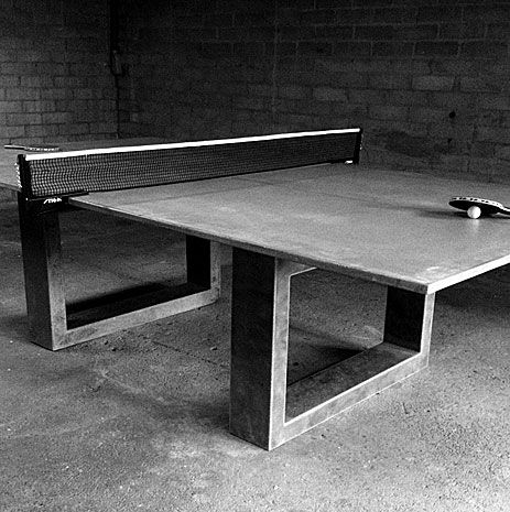 Really Cool Ping Pong Dining Table Made Of Concrete And Steel Digsdigs