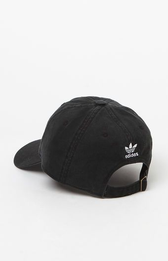f26cbdf9 adidas Washed Black Strapback Dad Hat | Things I want | Dad hats ...