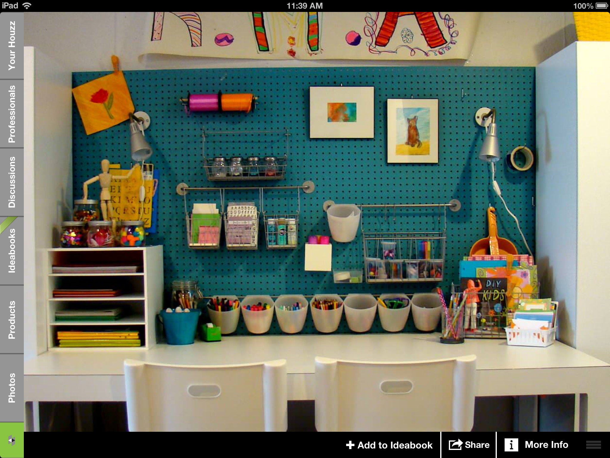 A Painted Pegboard Makes A Perfect Backdrop For Any Kid