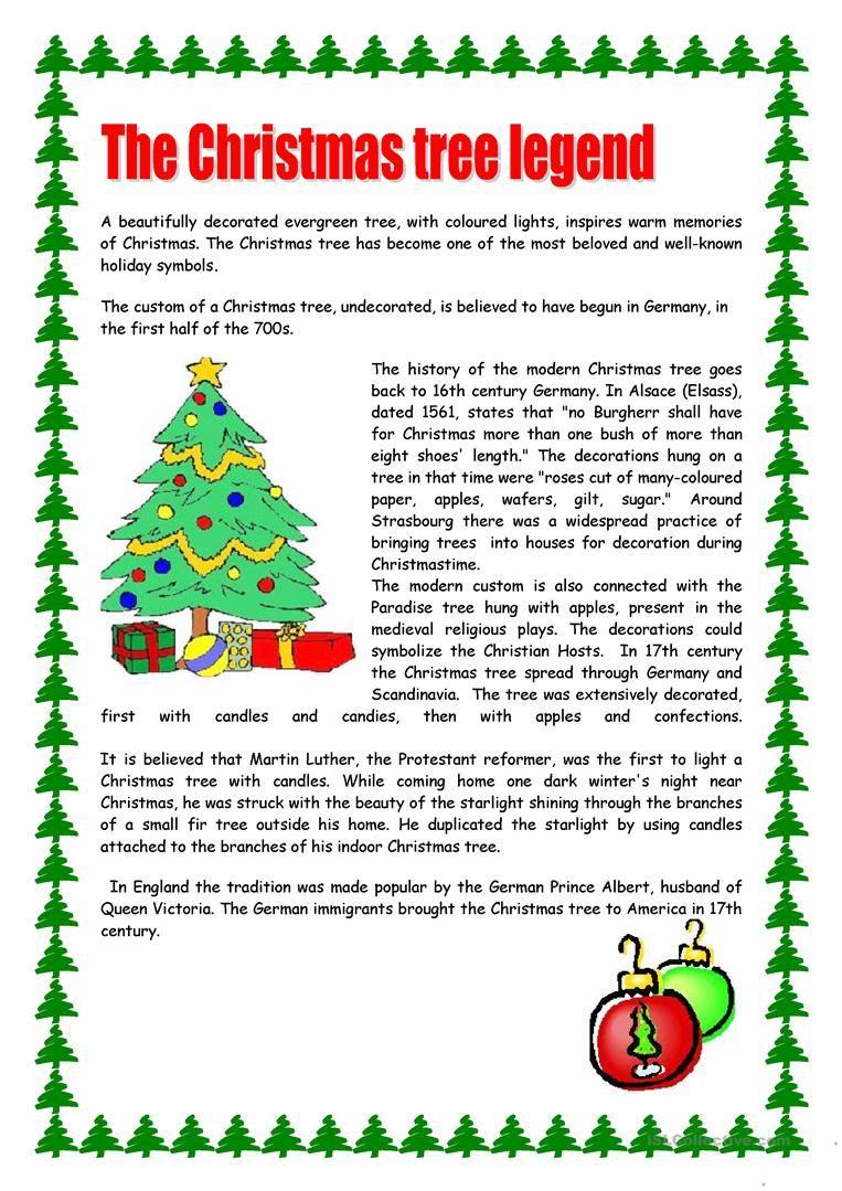 Christmas Tree Christmas Reading Comprehension Christmas Reading Christmas Worksheets Free christmas reading worksheets for