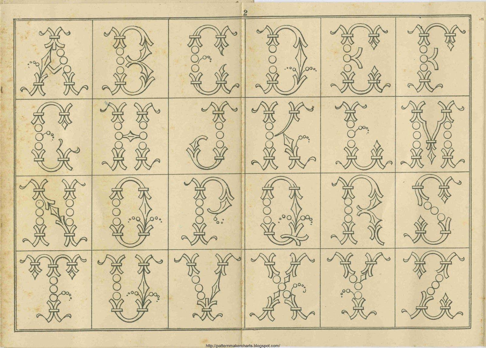 Pin de Bastel Oma en Vordrucke | Pinterest | Alfabeto, Bordado y Letras