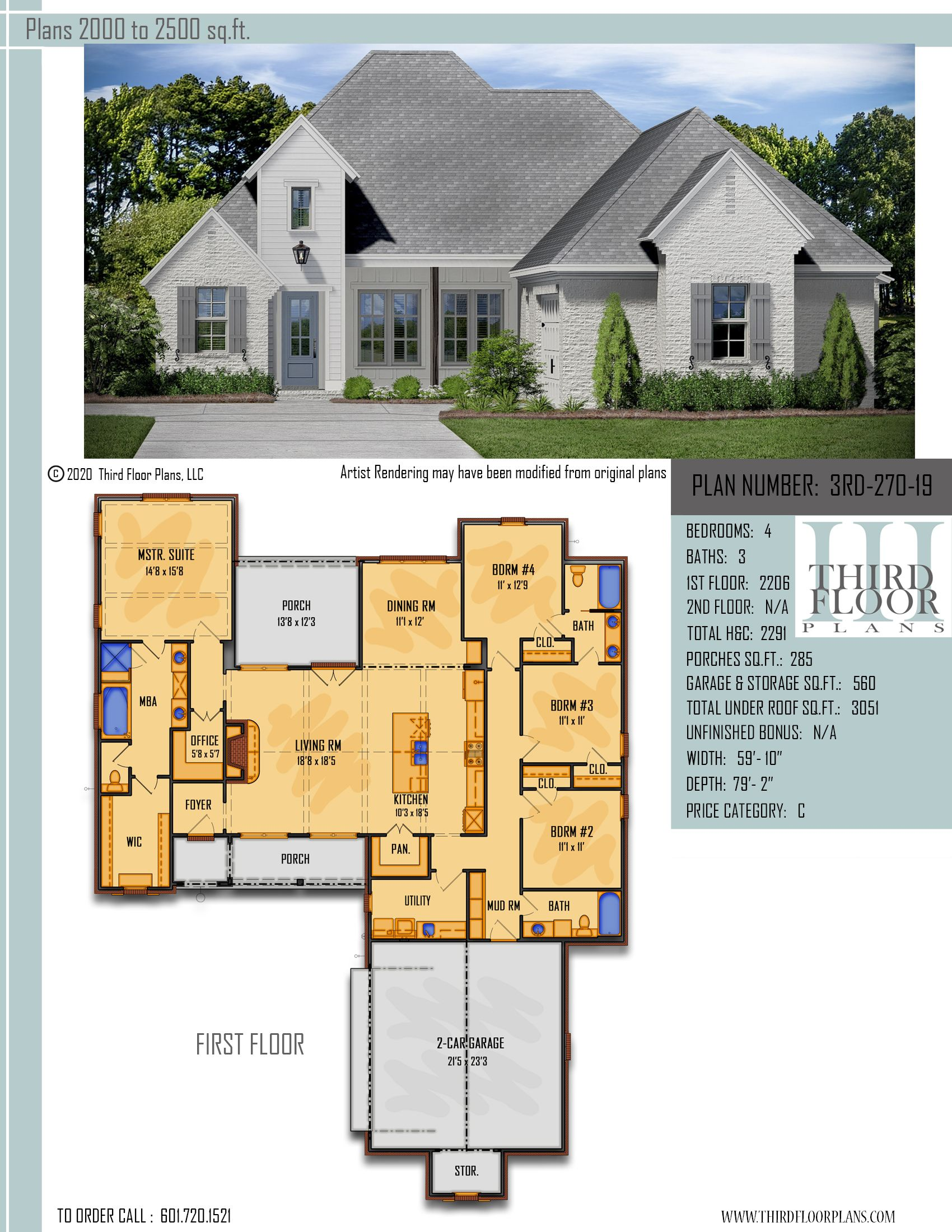 Plan 3rd 270 19 In 2020 Open Concept Kitchen Living Room Brick Siding Open Concept Kitchen