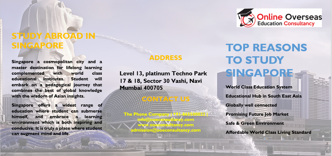 Ooe Consultancy Study In Singapore Invitation Proposal Singapore