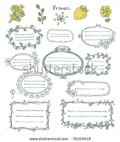 Cute Labels Ilustración vectorial en stock 90178324