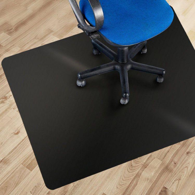 Black Desk Floor Mat For Carpet Office Chair Mat Plastic Desk