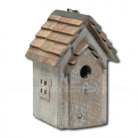 Maison d 39 oiseaux nichoir en bois 26cm suspendre 23 75 - Nichoir oiseau bois ...