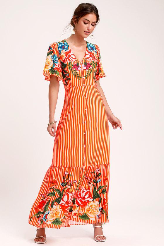 Riveria lace luxe maxi dress