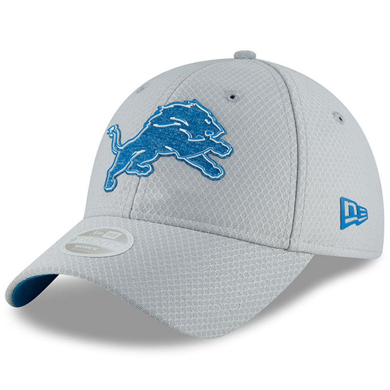616a1546ba6 Detroit Lions New Era Women s 2018 Training Camp 9TWENTY Adjustable Hat –  Gray