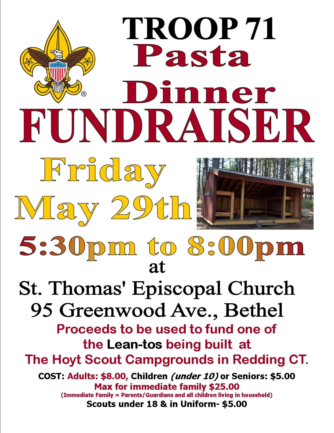 Image Result For Pasta Dinner Flyer  Boy Scout Fundraiser Info