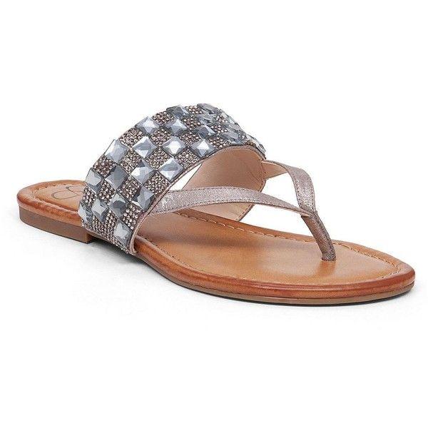 0e900da29e10 Jessica Simpson Kampsen Thong Sandals ( 28) ❤ liked on Polyvore featuring  shoes