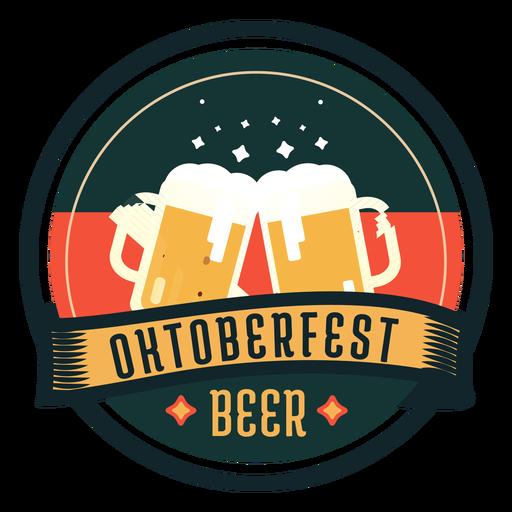 Oktoberfest beer cup glass ribbon badge sticker AD , AFF