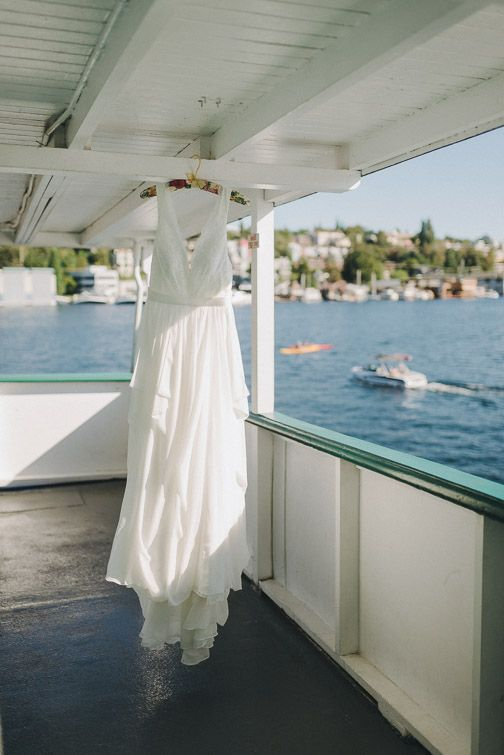 Nautical Vibes A Plenty Olivia And Max Held Their Wedding On The Mv Skansonia Decommissioned Ferry Boat Docked In South Lake Union Seattle Wa