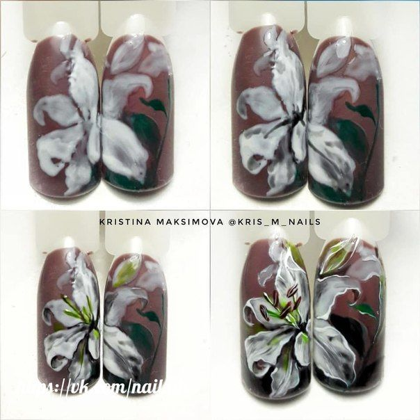 сегодня стало рисунки лилии на ногтях фото этот был