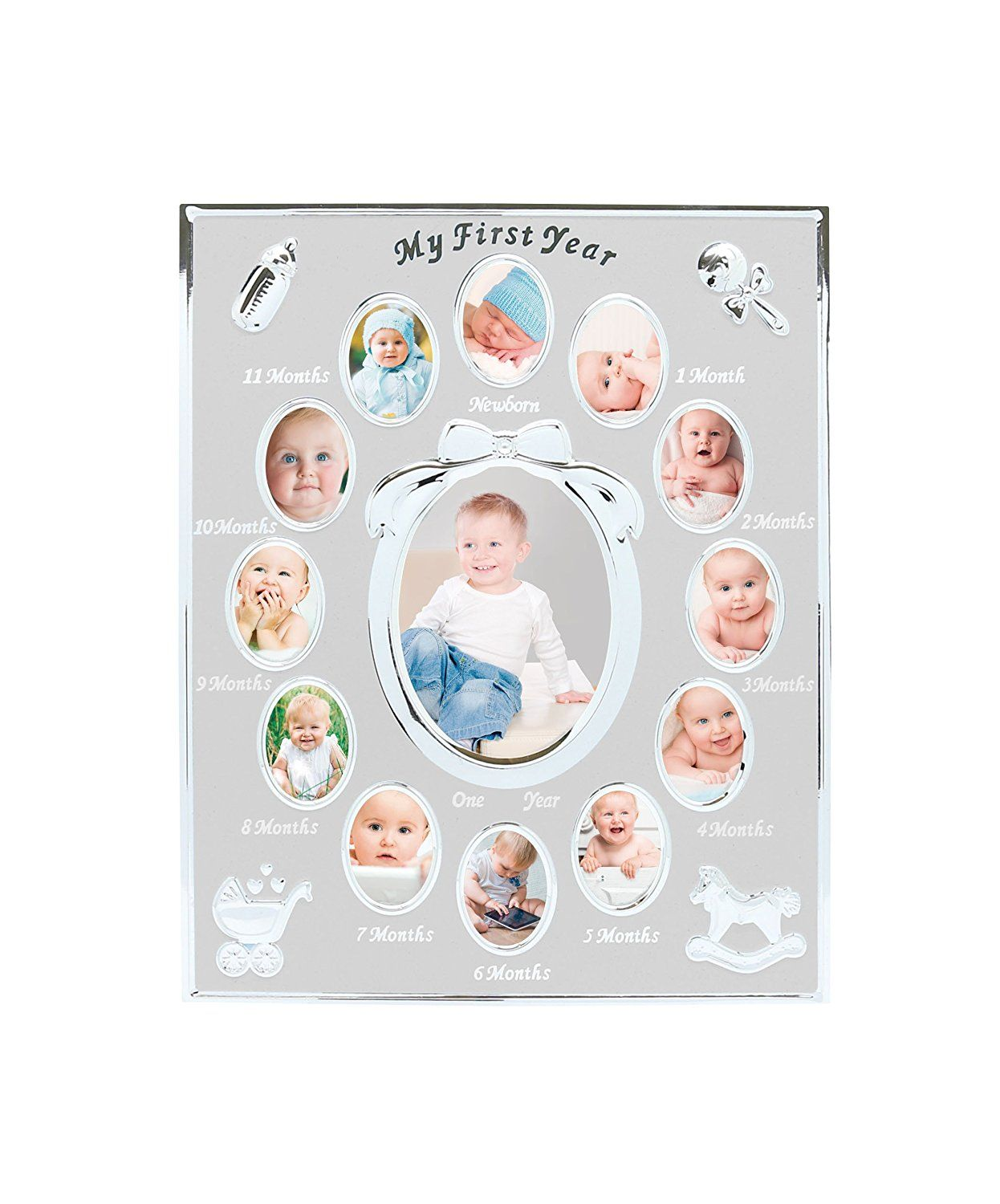 Tiny Ideas Baby S First Year Keepsake Picture Photo Frame Silver For More Information Visit Image Link This Is An Affil Tiny Idea Frame One Year Pictures