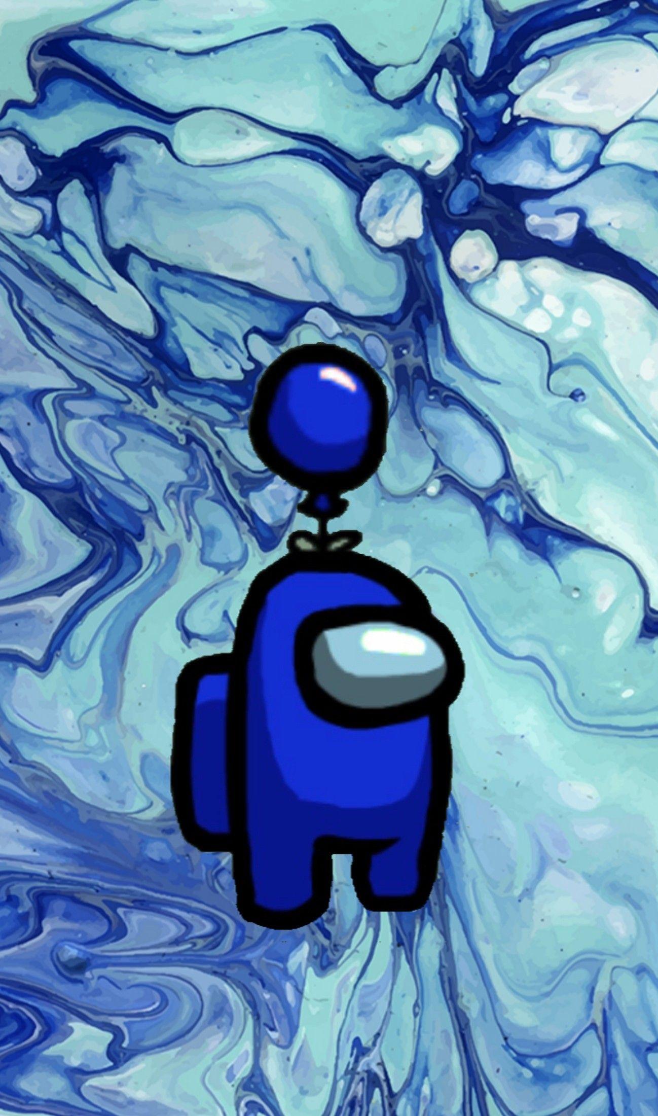 Among Us Blue Wallpaper Graffiti Wallpaper Iphone Blue Anime Anime Wallpaper