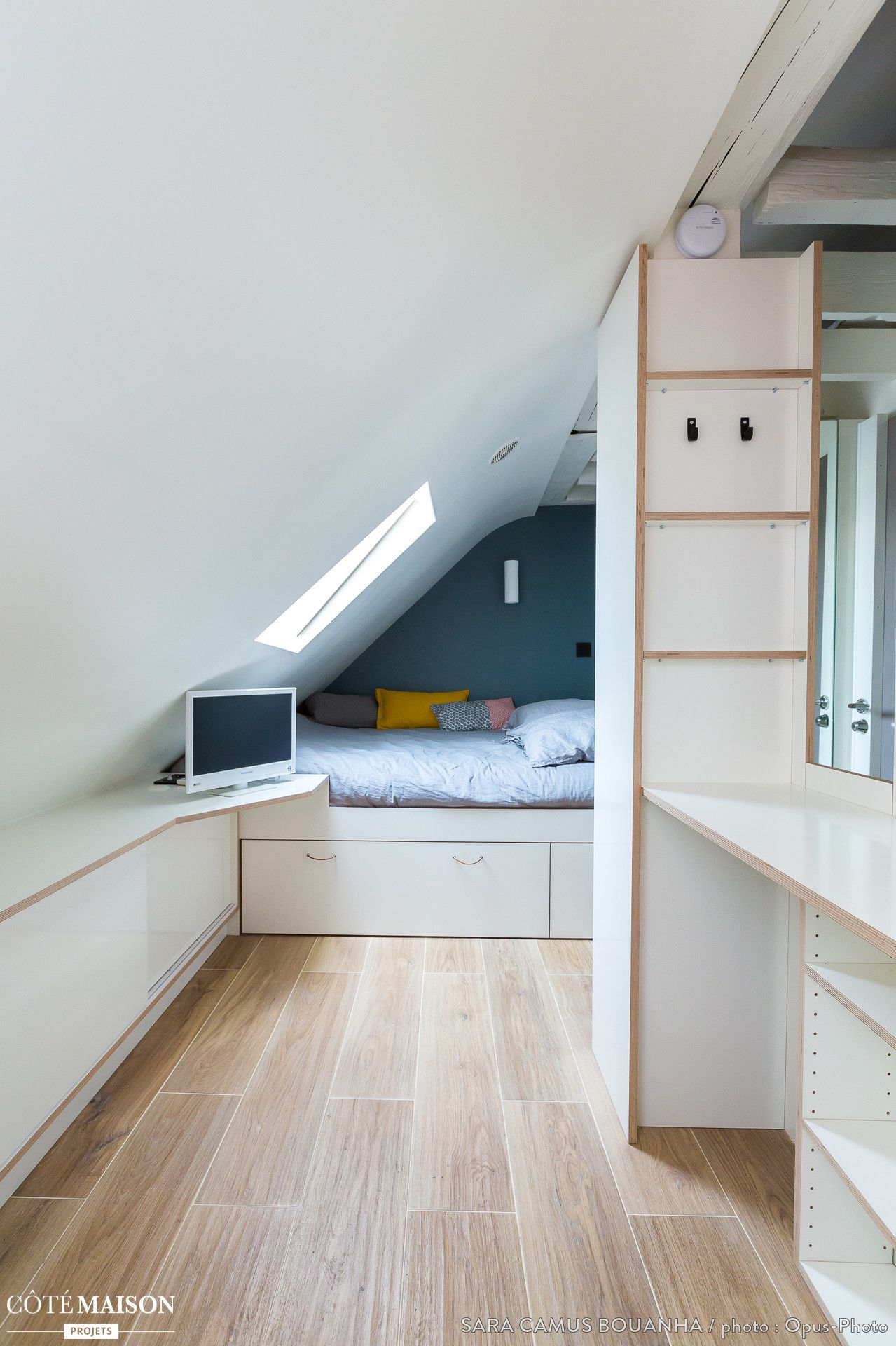 Chambre Sous Les Combles Under Roof Bedroom Wohnung Wohnen Neue Wohnung