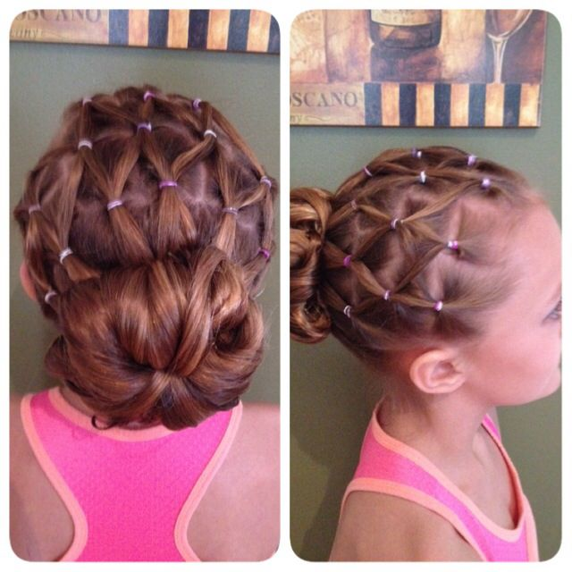Gymnastic meet hair style | cheveux | Coiffure, Patinage ...
