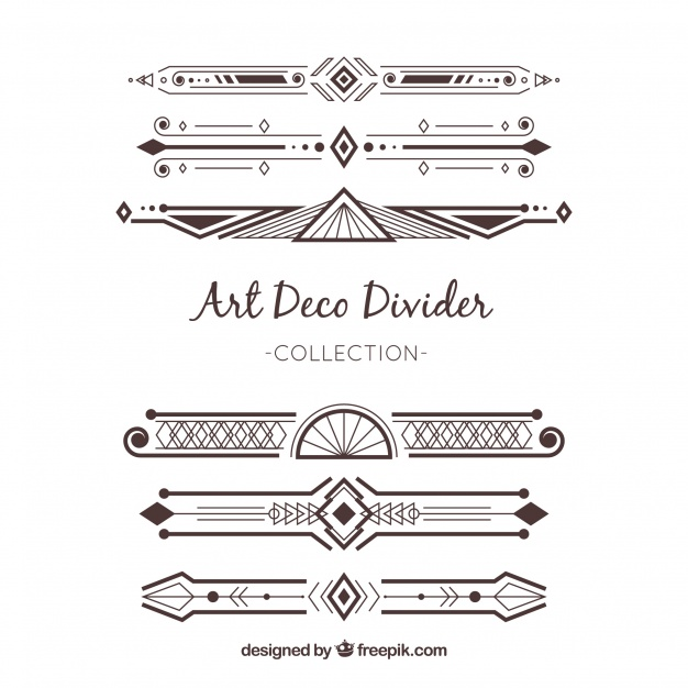 Download Dividers Collection In Art Deco Style For Free Art Deco Fashion Art Deco Art