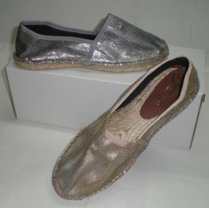 GAIMO Freeman Flat Espadrilles | Spanish Fashion - SPANISH SHOP ONLINE | Spain @ your fingertips  Flat slip on sequined espadrilles. A must have this summer. Available in gold and silver. Handmade in Spain #gaimo
