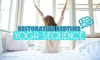 try this restorative bedtime yoga sequence for relaxation