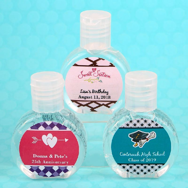Personalized Expressions Hand Sanitizer Favor Celebrate In 2020