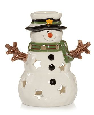 Closeout Yankee Candle Tealight Snowman Luminary Candles Home Fragrance For The Home Yankee Candle Christmas Tea Light Snowman Yankee Candle Accessories