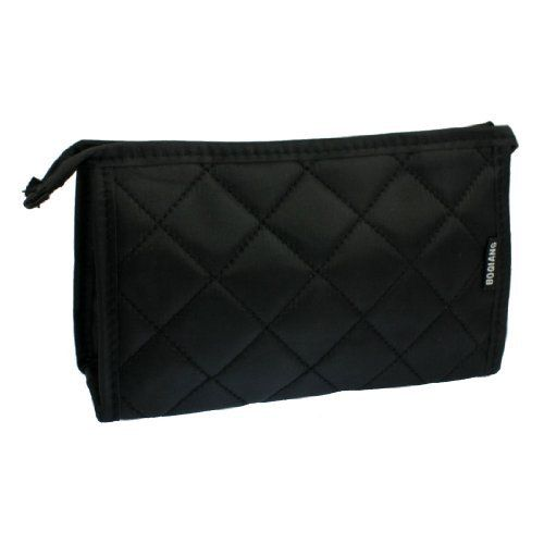 "Rosallini Nylon Black Rhombus Pattern Zip up Cosmetics Pocket Organizer w Mirror by Rosallini. $5.41. Size : Medium;Main Material : Nylon. Net Weight : 71g. Main Color : Black;Size (Approx.) : Folded: 19 x 11.5 x 2 cm / 7.4"" x 4.5""x 0.8"" (L*W*H) Unfolded: 19 x 11.5 x 6.5cm / 7.4"" x 4.5"" x 2.6"" (L*W*H). Package Content : 1 x Cosmetic Bag. Product Name : Cosmetic Bag;Fit for : Women. Features: Grid Pattern, Rectangle Shape, Zipper Closure, Inside Mirror, etc. Made..."