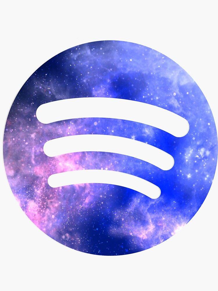 Galaxy Colored Spotify Logo Sticker By Picina In 2020 Spotify Logo Snapchat Logo App Store Icon