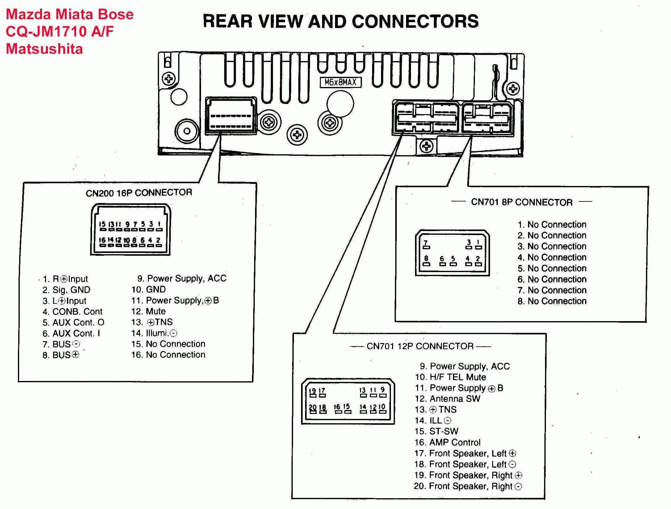 Wiring Diagram Head Unit Fujitsu Ten Awesome In 2020 Car Stereo Systems Trailer Wiring Diagram Car Stereo