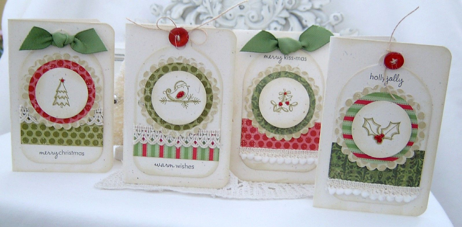 Christmas cards, made by Melissa phillips
