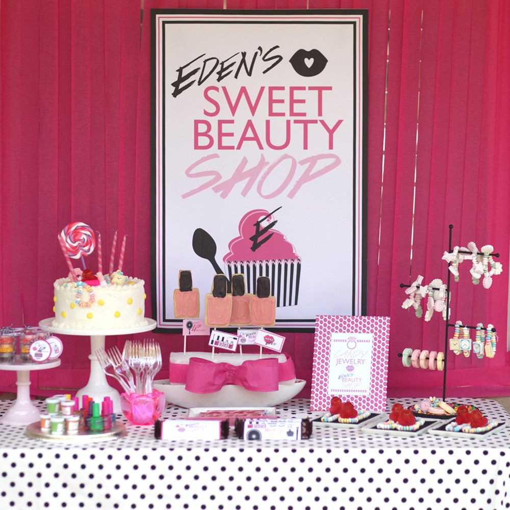 sweet pink beauty girl birthday party themes