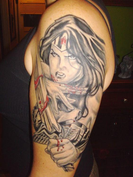 b732fd049 wonder woman sleeve | Tattoos | Tattoos for women, Tattoos, Sleeve ...