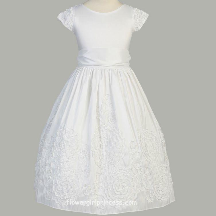 white baptism dress