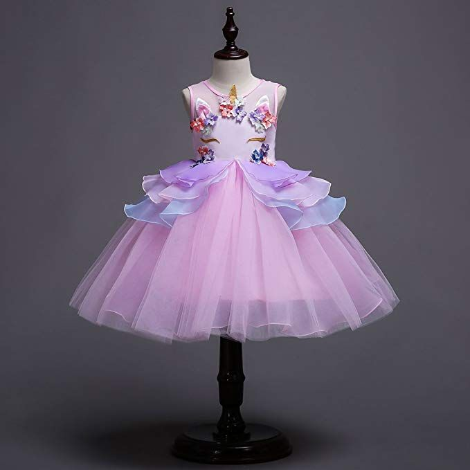 5e3a0eccd0f4b $28.99 Amazon.com: Kids Summer Unicorn Party Tutu Dress for Girls ...