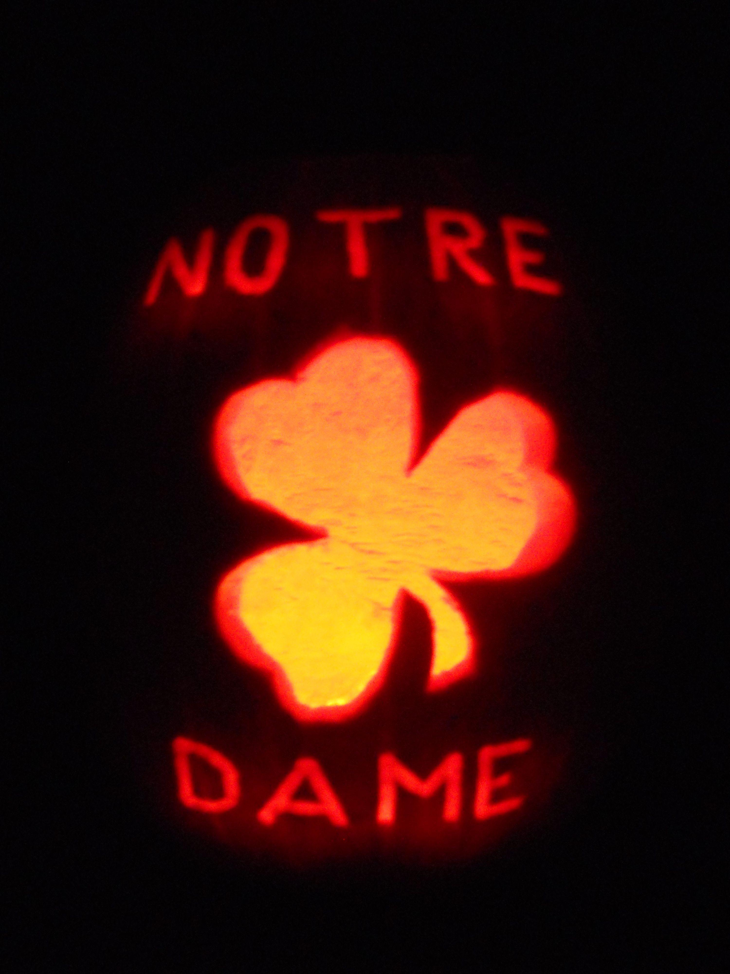 Notre Dame Pumpkin Holidays Halloween Pumpkin Carving