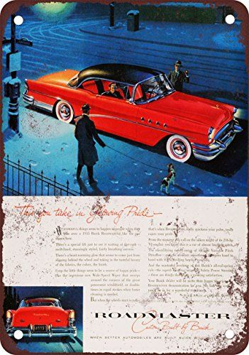 1955 Buick Roadmaster Vintage Look Reproduction Metal Sign *** Click image to review more details.