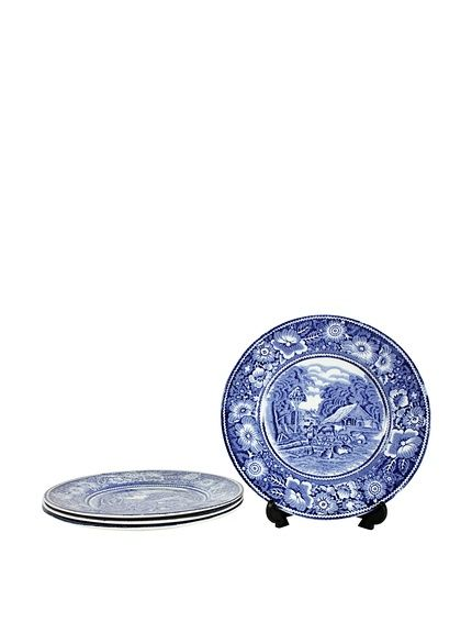 "Set of 4 Blue & White Rural England 7"" Dessert Plates, http://www.myhabit.com/redirect/ref=qd_sw_dp_pi_li?url=http%3A%2F%2Fwww.myhabit.com%2Fdp%2FB00NEF8HJ4%3F"