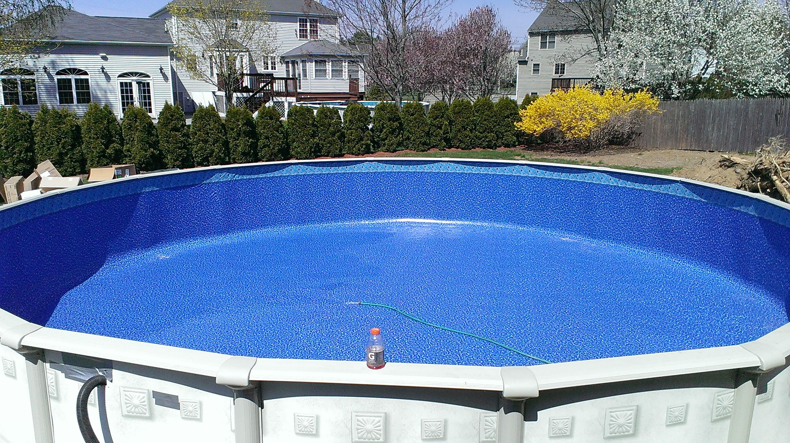 The Step Above Ground Drop In Two Rails Pool Supplies Canada Above Ground Pool Decks Above Ground Pool Ladders